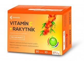 Noventis Vitamín C + rakytník 30 tbl. + 10 tbl. ZDARMA