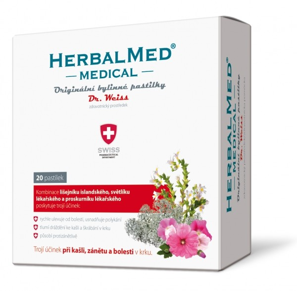 Simply You HerbalMed pastilky Dr. Weiss MEDICAL 20 pastilek