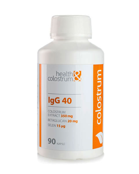 Health & Colostrum Health&Colostrum Colostrum kapsle IgG 40 (350 mg) + betaglucan a selen 90 ks