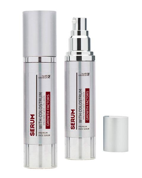 Health & Colostrum Pleťové sérum s bio colostrem, kyselinou hyaluronovou a kolagenem 50 ml