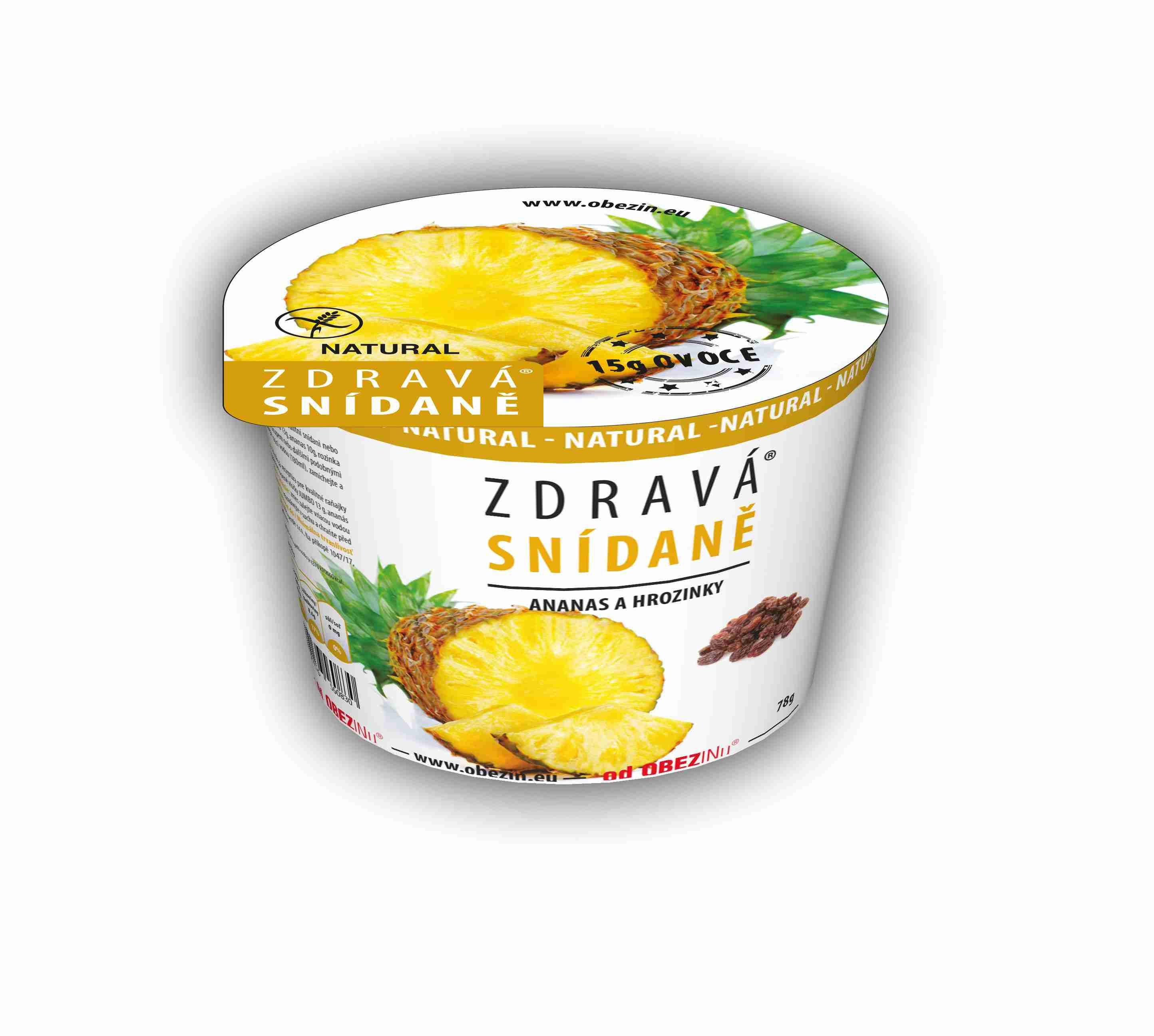 Danare Zdravá snídaně - Ananas a rozinky