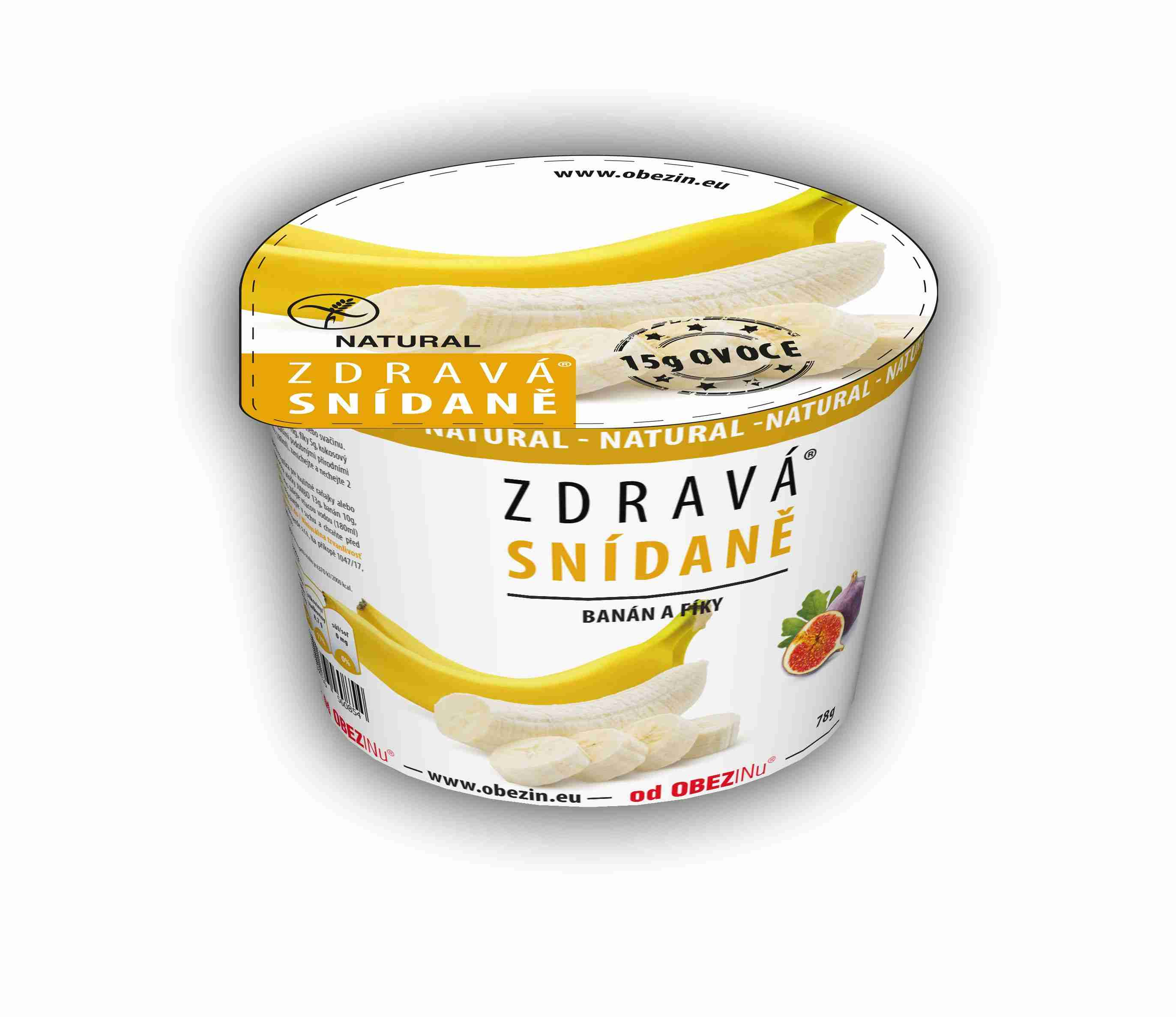 Danare Zdravá snídaně - Banán a fíky