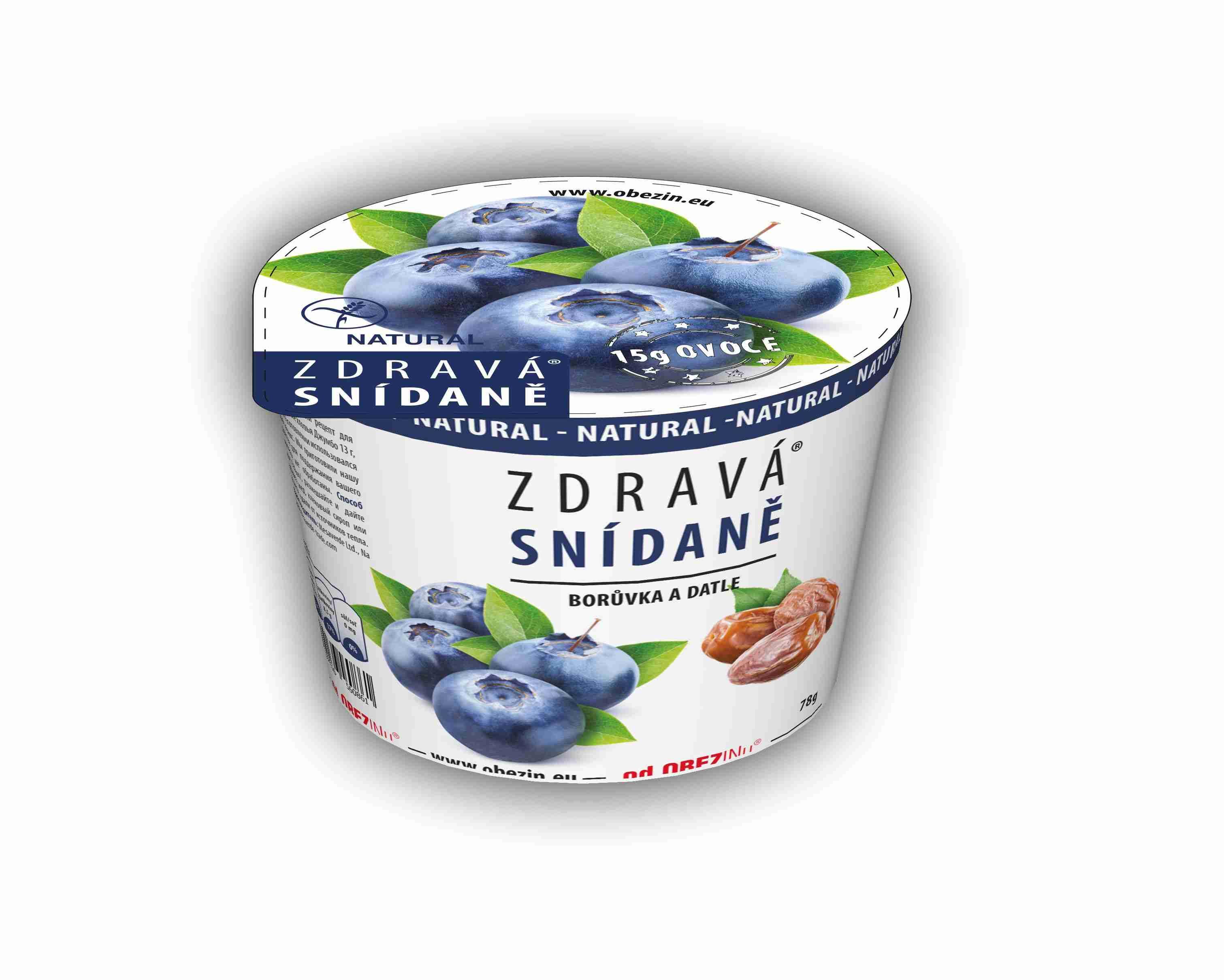 Danare Zdravá snídaně - Borůvky a datle