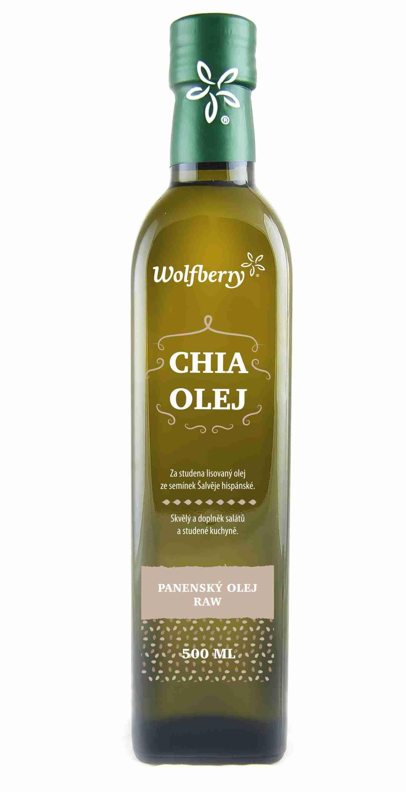 Wolfberry Chia olej za studena lisovaný 500 ml