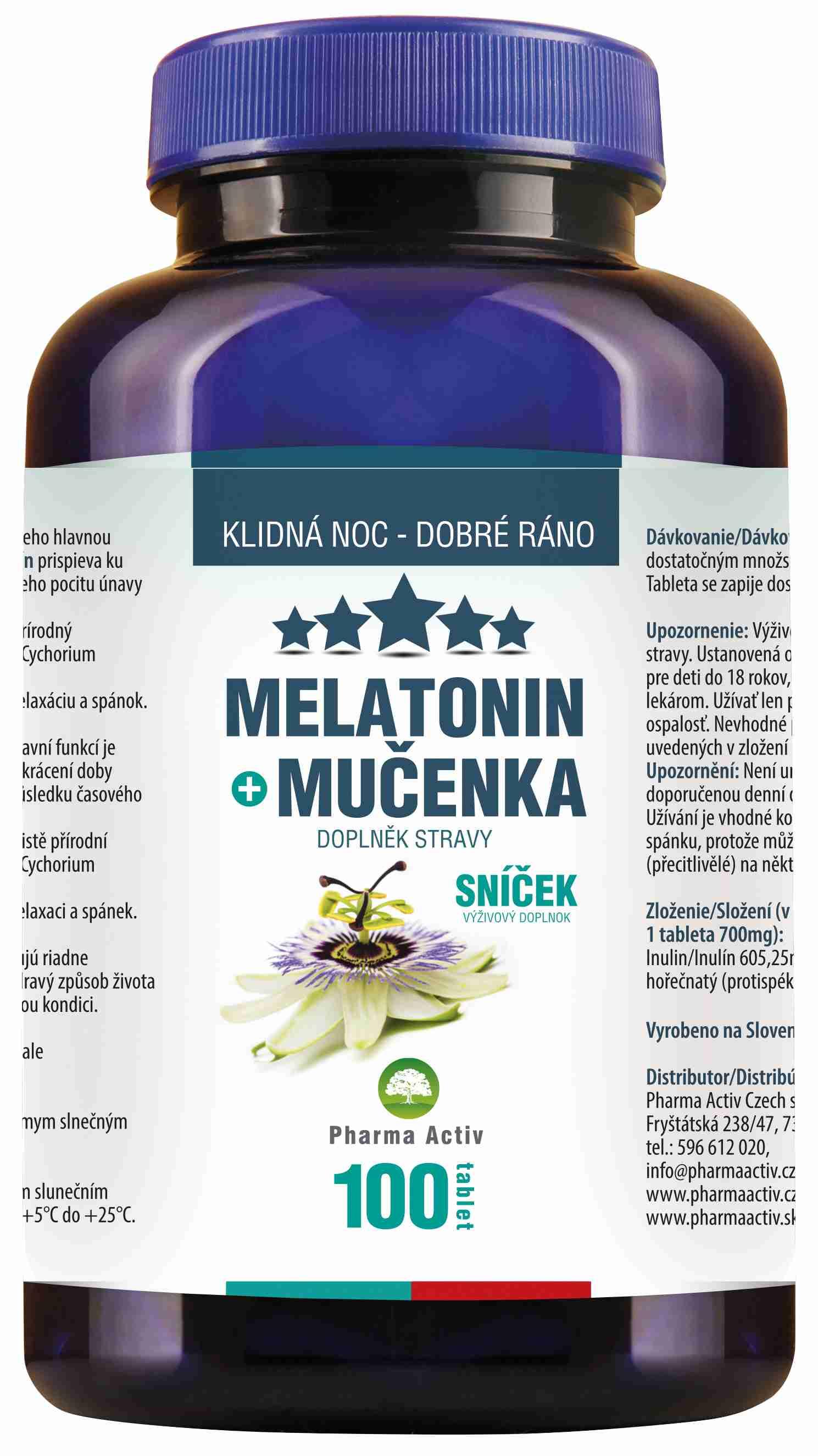 Pharma Activ Melatonin + Mučenka 100 tbl.