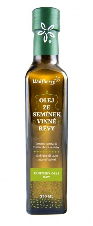 Wolfberry Olej ze semínek vinné révy za studena lisovaný 250 ml