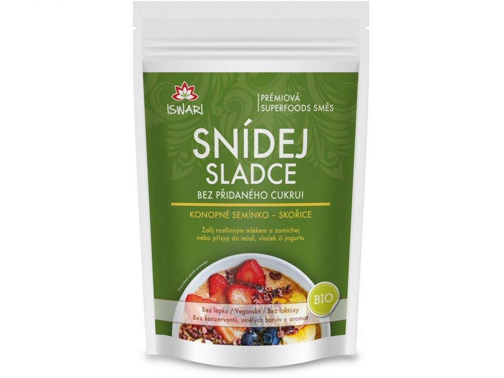 Iswari Bio Snídaňová směs Naklíčený oves, konopné semínko & skořice 360 g