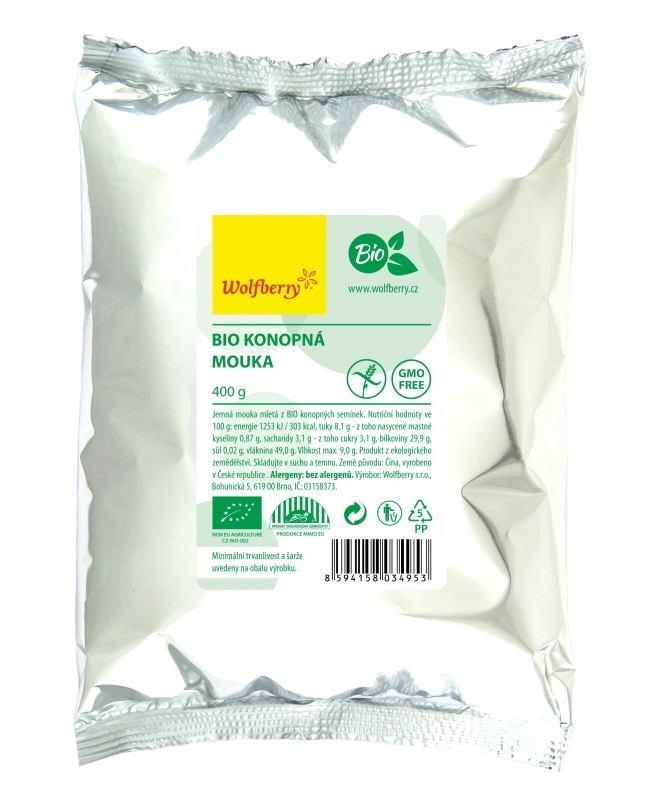 Wolfberry Bio Konopná mouka 400 g