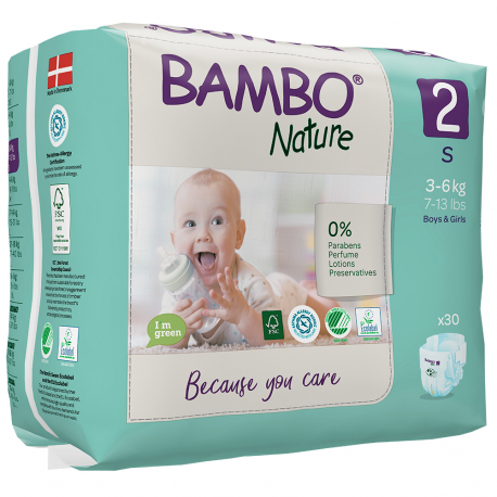 Bambo Nature 2 Mini 3-6kg 30 kusů