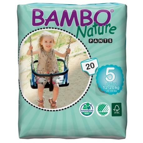 Bambo Nature 5 Pants Junior 12-20kg 20 kusů