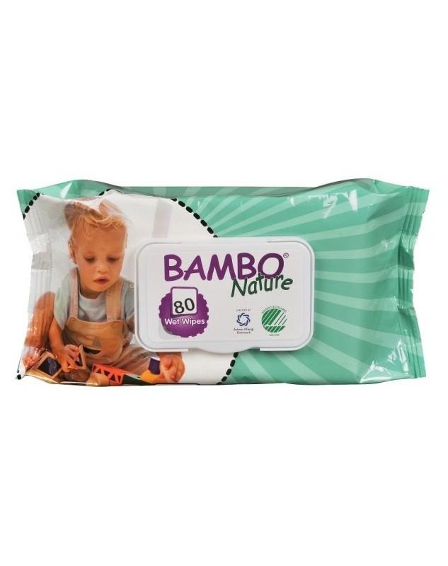 Abena Bambo Nature vlhčené ubrousky 80 kusů