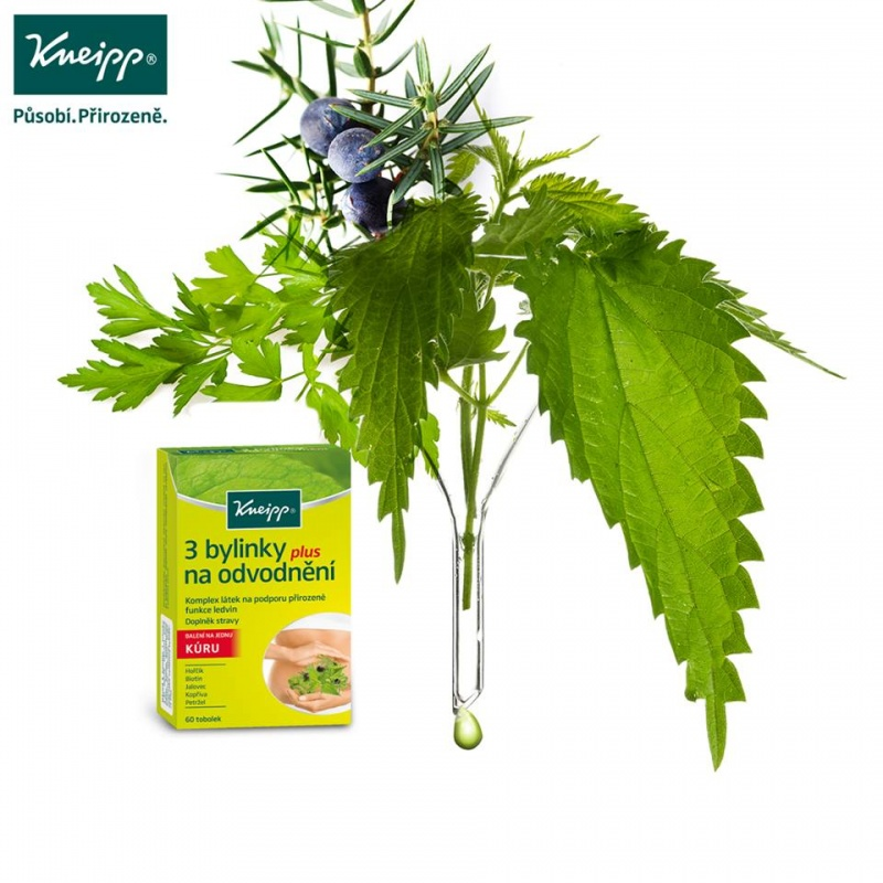 Kneipp 3 bylinky na odvodnění plus 60 tob.