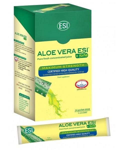 Aloe Vera ESI - čistá šťáva 99,8% 24x20 ml