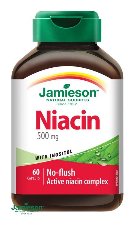 Jamieson Niacin 500 mg s inositolem 60 tbl.