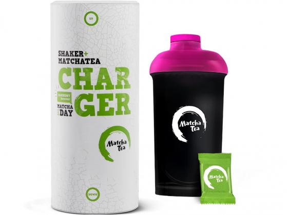 Matcha tea BIO Charger 15x2g + šejkr ZDARMA