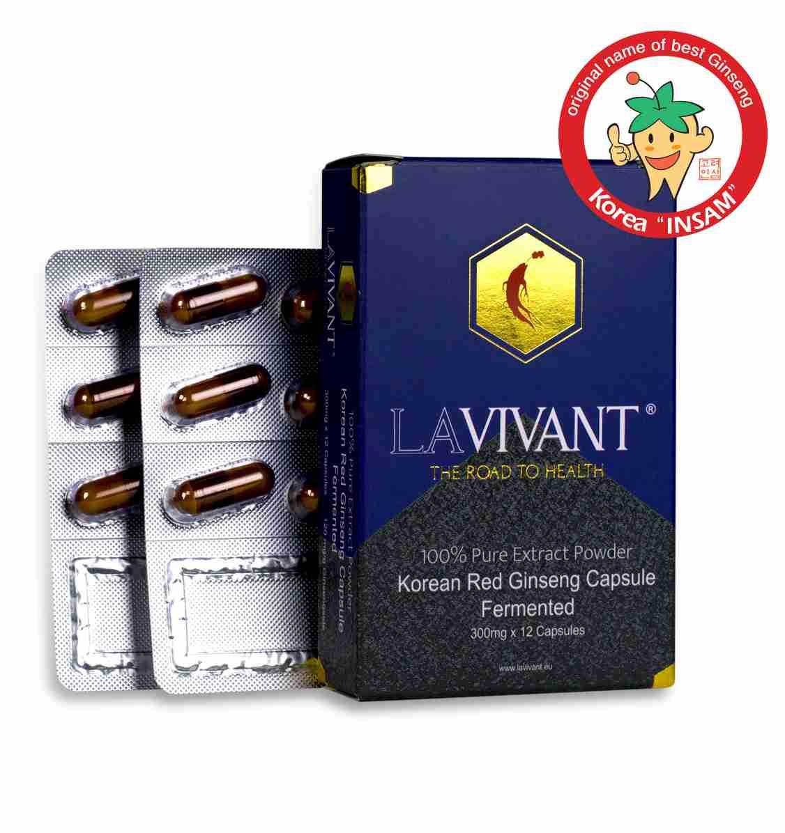 LAVIVANT Royal Gold fermentovaný ženšen 12 kapslí