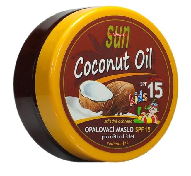Vivaco Sun Opalovací máslo s kokosovým olejem pro děti OF 15 200 ml
