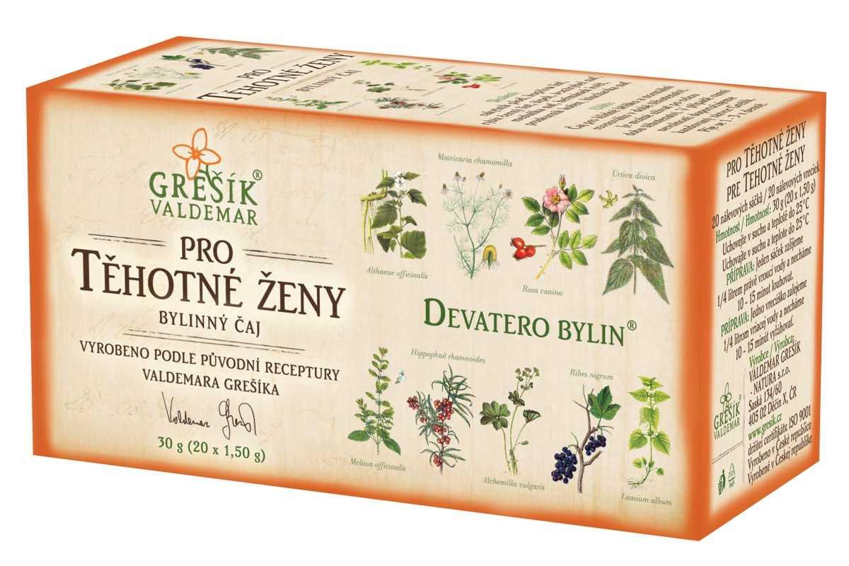 Grešík Pro těhotné ženy čaj 20 n.s. Devatero bylin