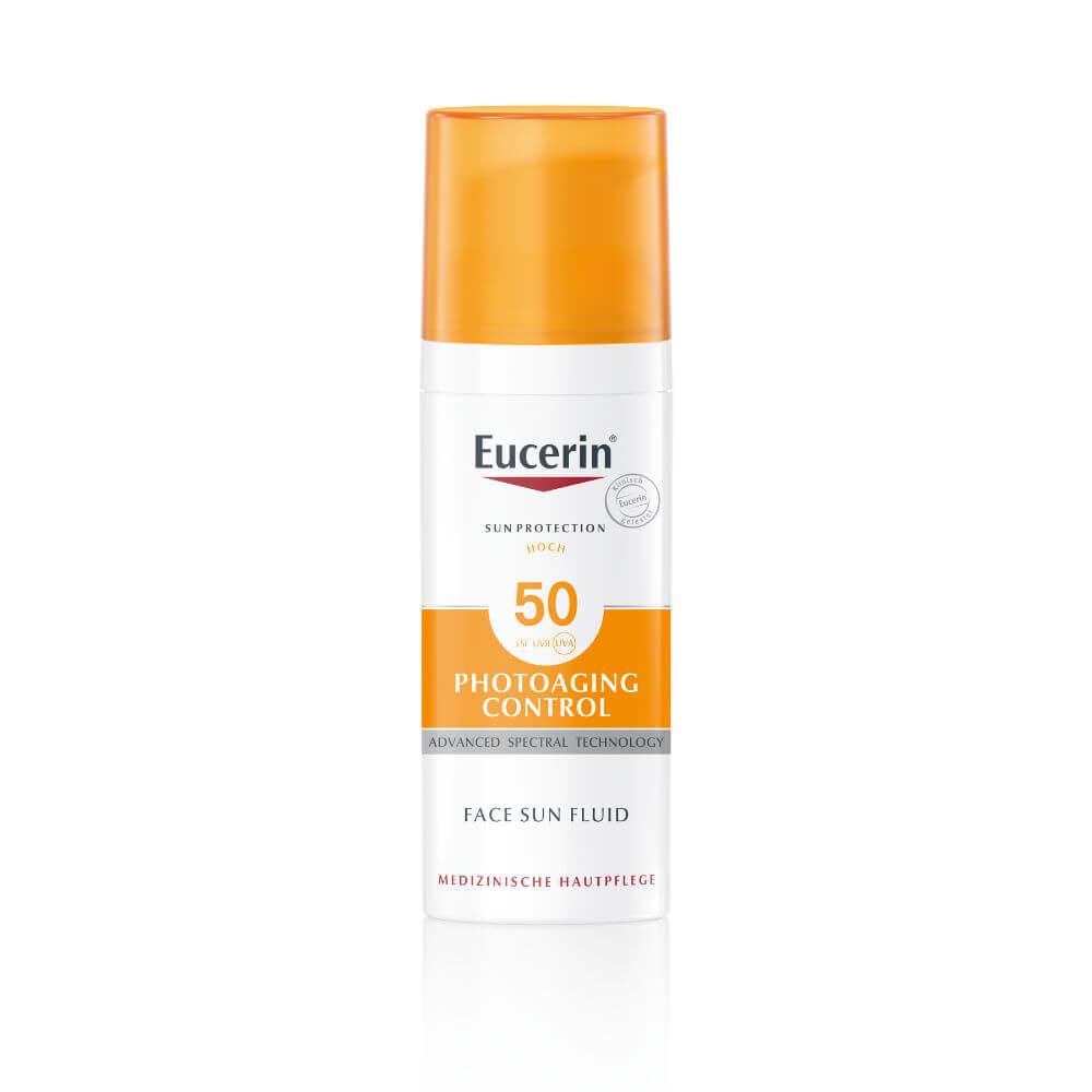 Eucerin Sun Emulze na opalování na obličej proti vráskám SPF 50 50 ml