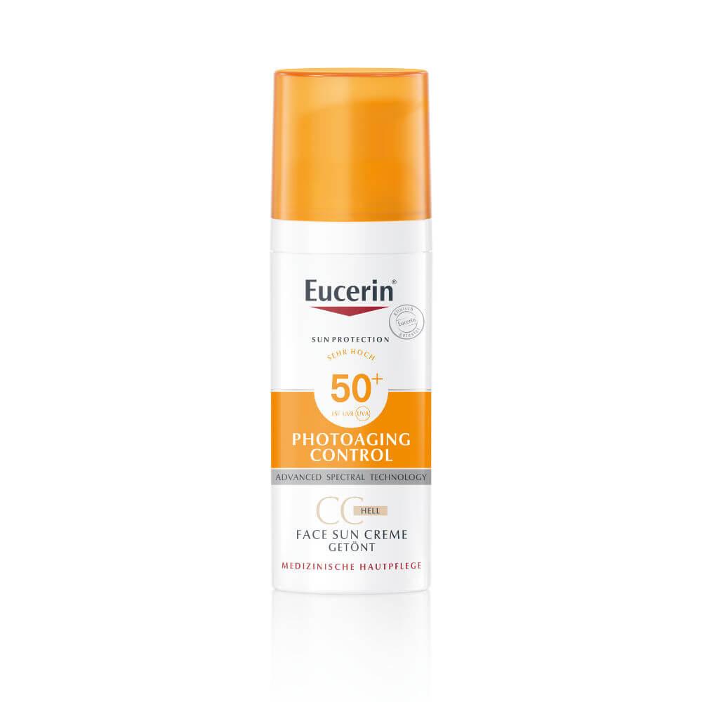 Eucerin Sun CC krém na opalování na obličej SPF 50+ světlý 50 ml