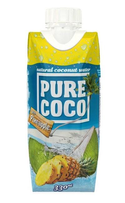 Pure Coco 100% kokosová voda Ananas 330 ml
