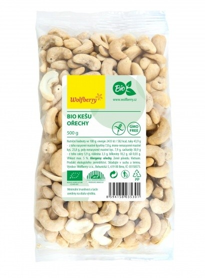 Wolfberry BIO Kešu ořechy 500 g