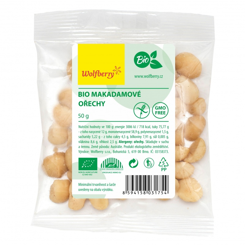 Wolfberry BIO Makadamové ořechy 50 g