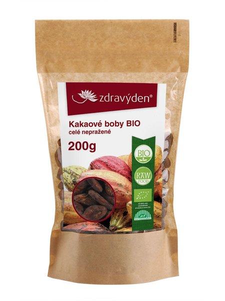 ZdravýDen® BIO Kakaové boby celé nepražené RAW 200 g