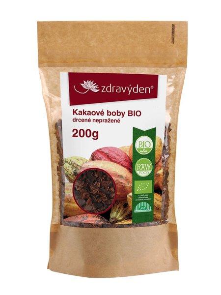 ZdravýDen® BIO Kakaové boby drcené nepražené RAW 200 g