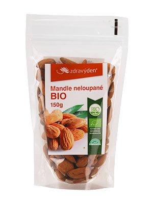 ZdravýDen® BIO Mandle neloupané 150 g
