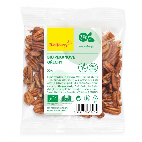 Wolfberry BIO Pekanové ořechy 50 g