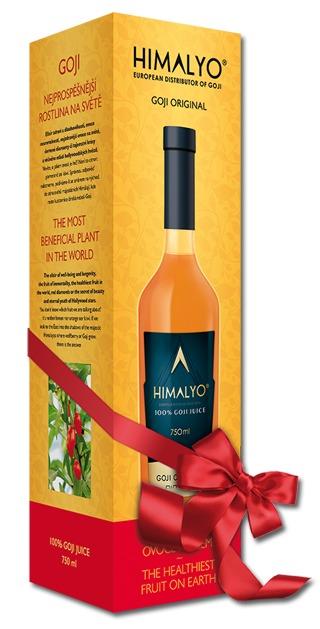 Himalyo Goji 100% BIO šťáva 750 ml - Luxusní dárkové balení