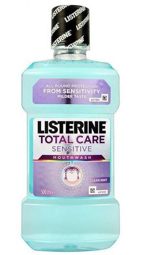 Listerine Ústní voda kompletní péče pro citlivé zuby Total Care Sensitive 500 ml