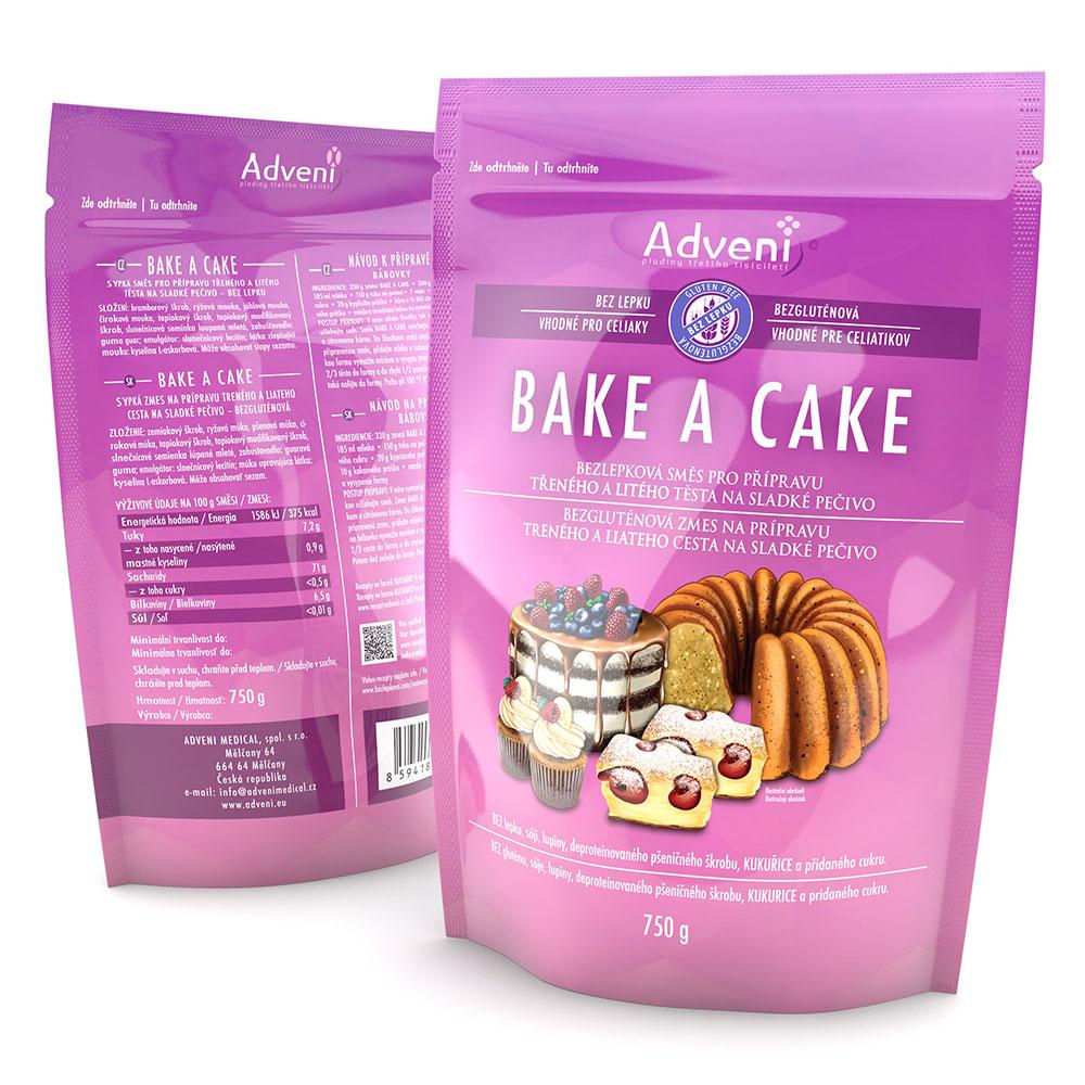 Adveni Bezlepková směs na pečení BAKE-A-CAKE 750 g
