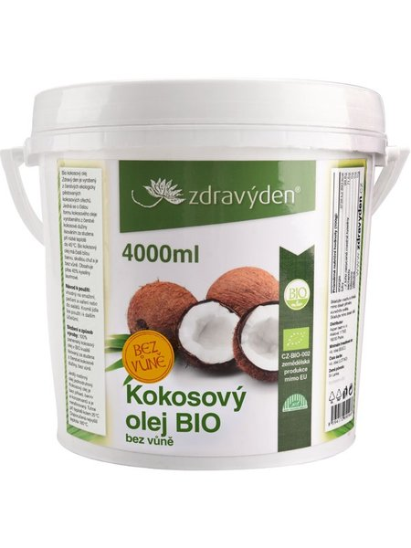 ZdravýDen® BIO Kokosový olej bez vůně 4000 ml