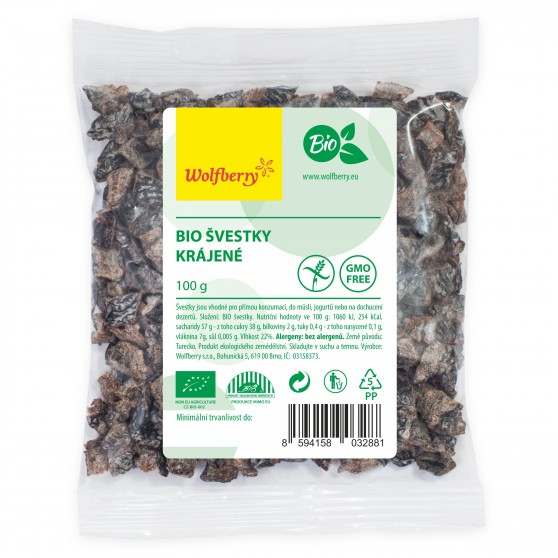 Wolfberry Bio Švestky krájené 100 g