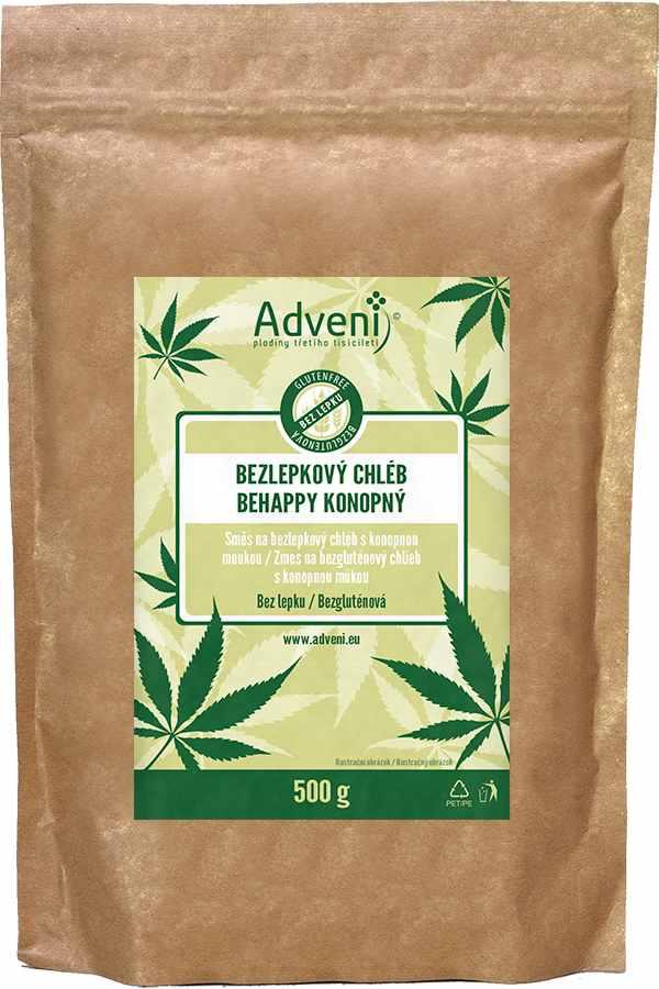 Adveni Bezlepkový konopný BEHAPPY chléb 500 g