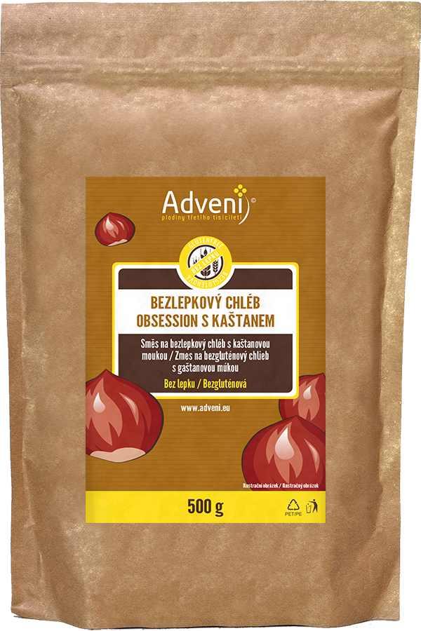 Adveni Bezlepkový OBSESSION chléb s kaštanem 500 g