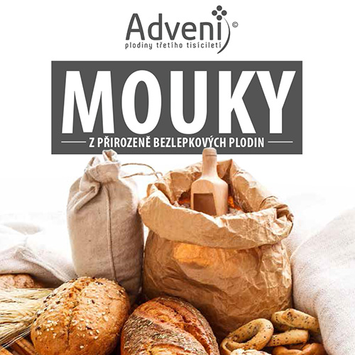 Průvodce moukami Adveni - mouky z přirozeně bezlepkových plodin