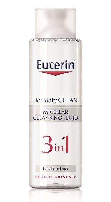 Eucerin Čisticí micelární voda 3v1 DermatoCLEAN 400 ml