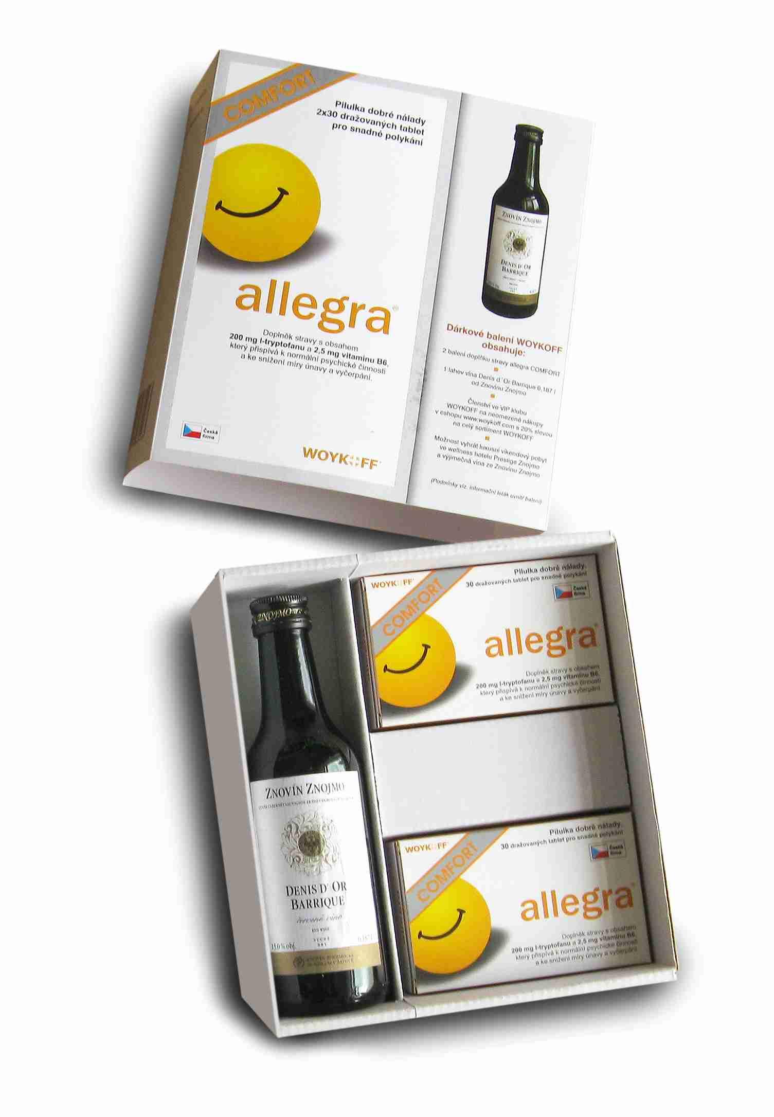 Woykoff Allegra Comfort 2 x 30 tbl. - dárková kazeta