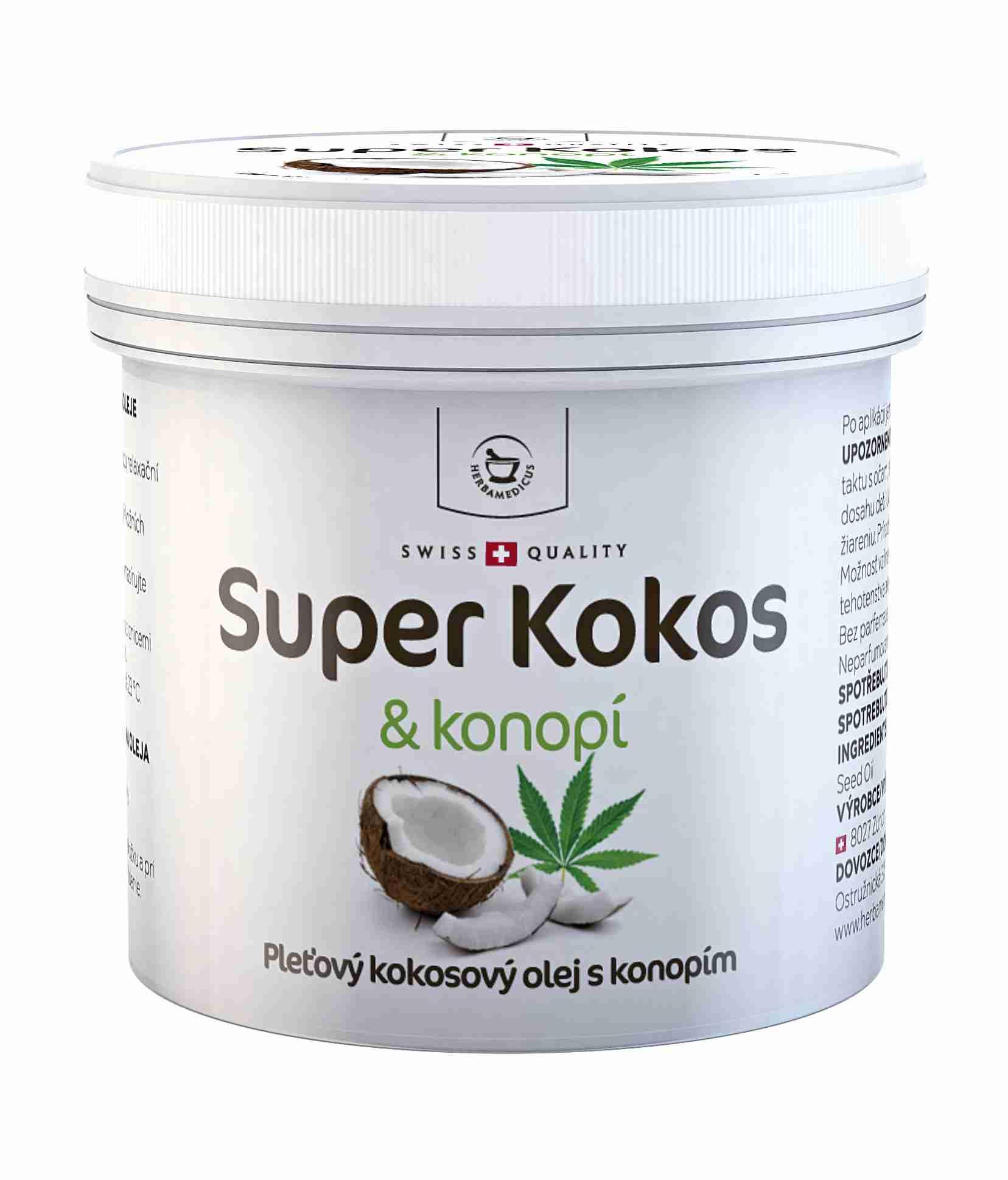 Herbamedicus Super Kokos & konopí - pleťový olej 150 ml