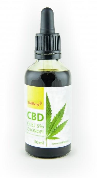 Wolfberry Konopný olej 5% CBD 50 ml