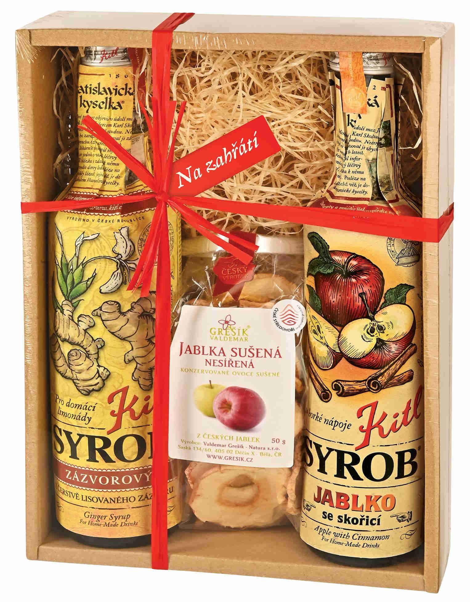 Kitl Syrob pro domácí limonády Višeň & Grep & sklenička - dárkové balení