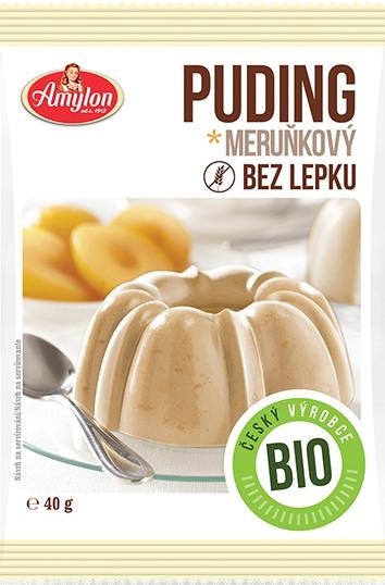 Amylon a.s. Amylon Bio Puding meruňkový bez lepku 40 g