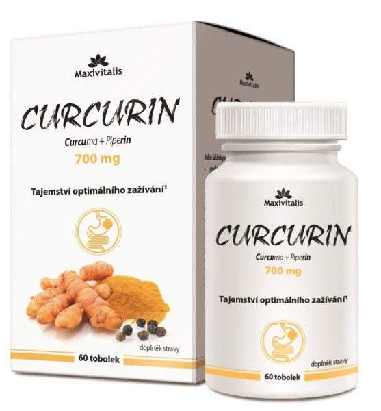 Maxivitalis Curcurin (Curcuma + Piperin) 700 mg 60 tob.