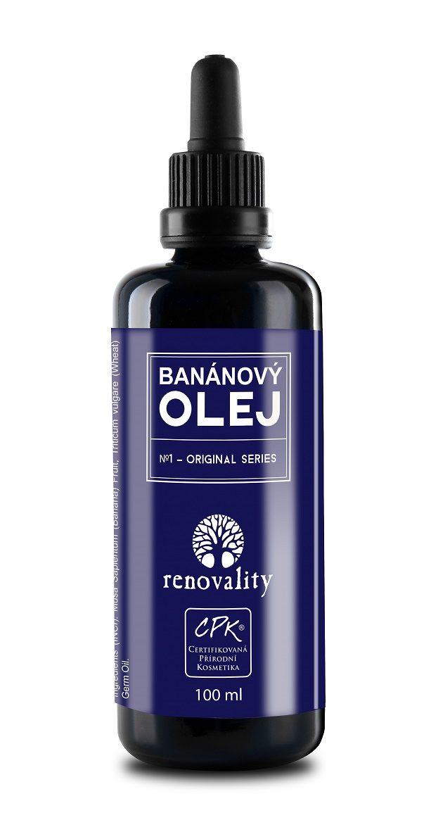 Renovality Banánový tělový a masážní olej 100 ml