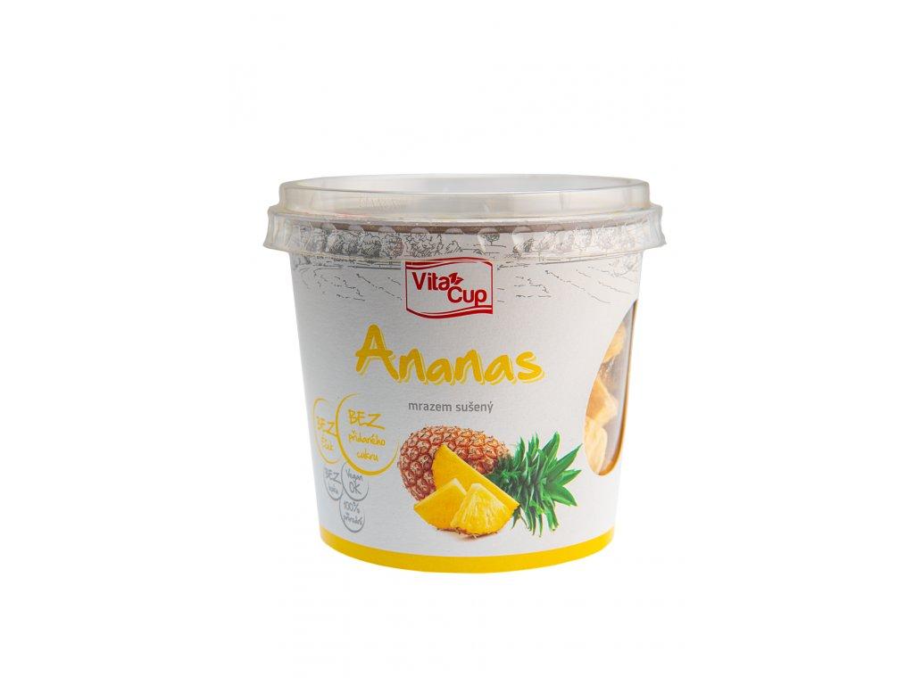 K-SERVIS VitaCUP Ananas - kousky sušené mrazem 50 g