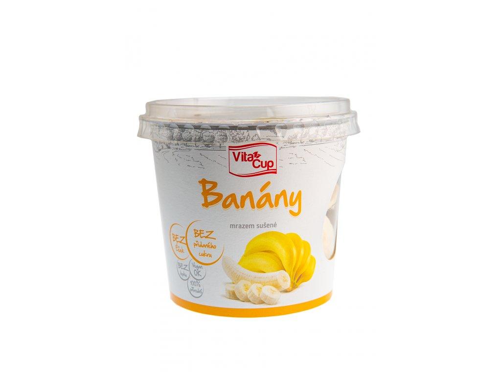 K-SERVIS VitaCUP Banán - plátky sušené mrazem 50 g