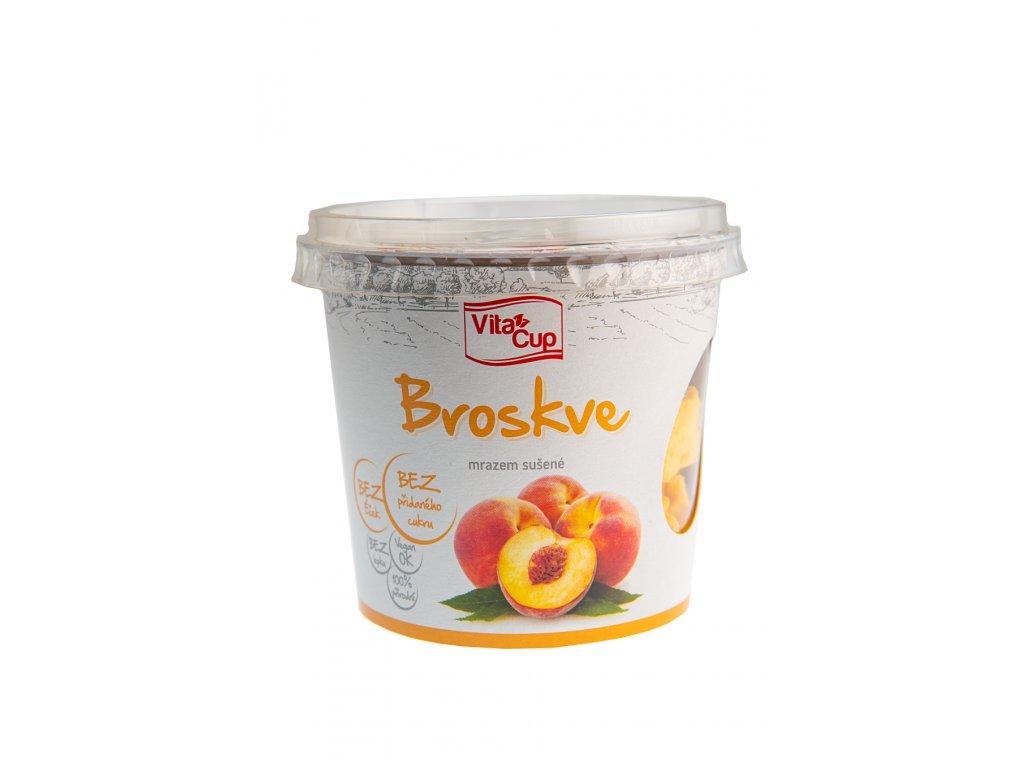 K-SERVIS VitaCUP Broskve - plátky sušené mrazem 20 g